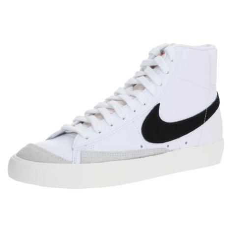 Nike Sportswear Trampki wysokie 'Blazer Mid 77 Vintage' biały / czarny