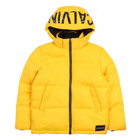 Calvin Klein Jeans Kurtka przejściowa 'ESSENTIAL PUFFER' żółty