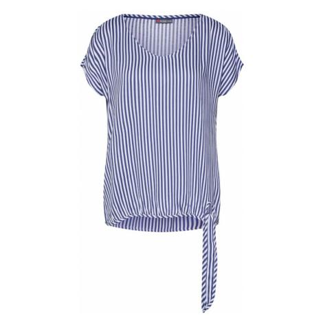 STREET ONE Bluzka 'LTD QR Tala Stripe' podpalany niebieski / biały