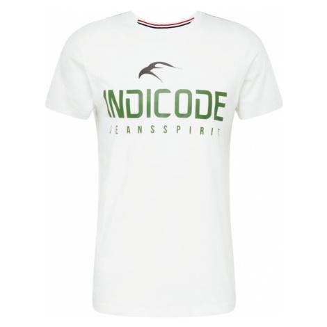 INDICODE JEANS Koszulka biały / zielony