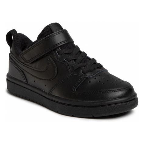 Nike Buty Court Borough Low 2 (PSV) BQ5451 001 Czarny