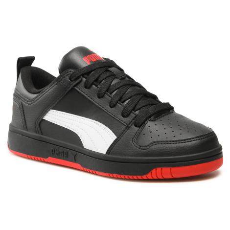 Sneakersy PUMA - Rebound Layup Lo Sl Jr 370490 13 Black/White/High Risk Red