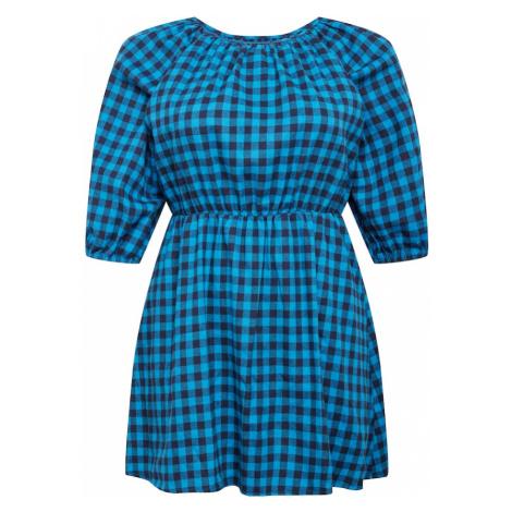 Missguided Plus Sukienka ciemny niebieski / jasnoniebieski