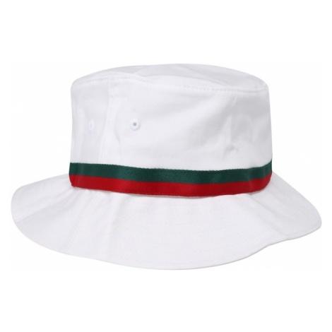 Flexfit Kapelusz 'Stripe Bucket Hat' zielony / czerwony / biały