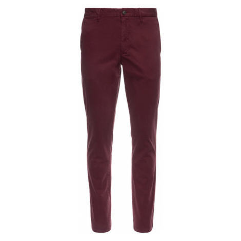 TOMMY HILFIGER Spodnie materiałowe Garment MW0MW10887 Bordowy Slim Fit