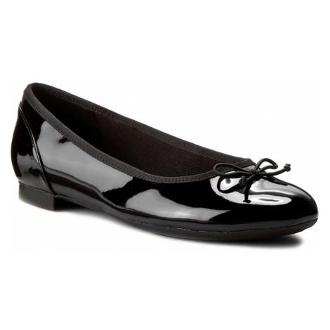 Baleriny CLARKS - Couture Bloom 261154754 Black Pat