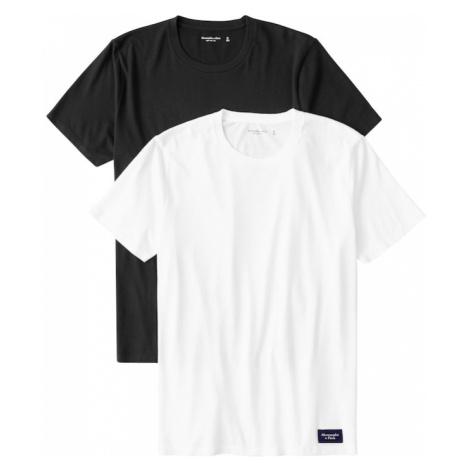 Abercrombie & Fitch Koszulka czarny / biały