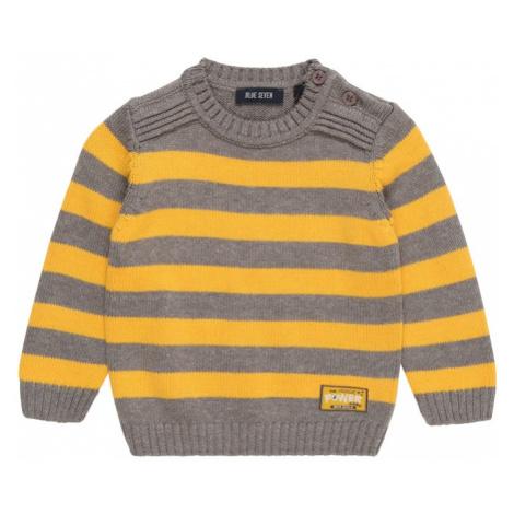 BLUE SEVEN Sweter musztardowy / szary