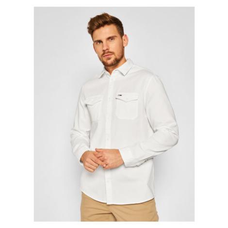 Tommy Jeans Koszula Detail Twill DM0DM08777 Biały Comfort Fit Tommy Hilfiger