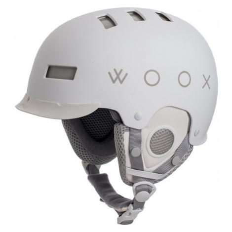 Kask narciarski / snowboardowy z regulacją | Biały Brainsaver Branco Woox
