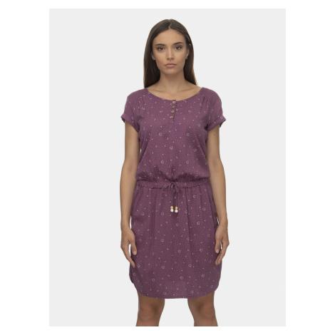 Fioletowa wzorzysta sukienka Ragwear Danila