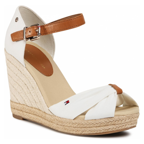 Espadryle TOMMY HILFIGER - Basic Opened Toe High Wedge FW0FW04784 Ivory YBI