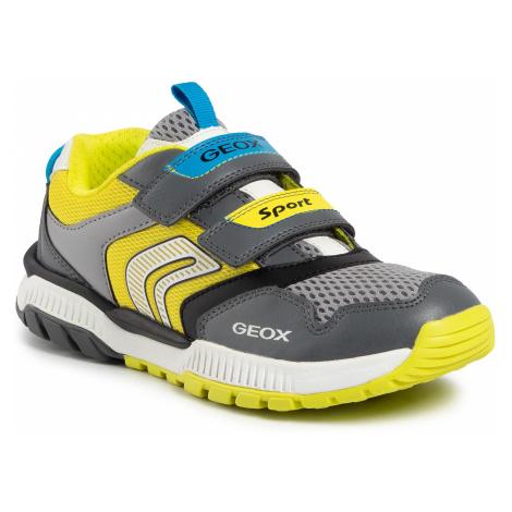 Sneakersy GEOX - J Tuono B. A J02AXA 014BU C1267 D Dk Grey/Lime