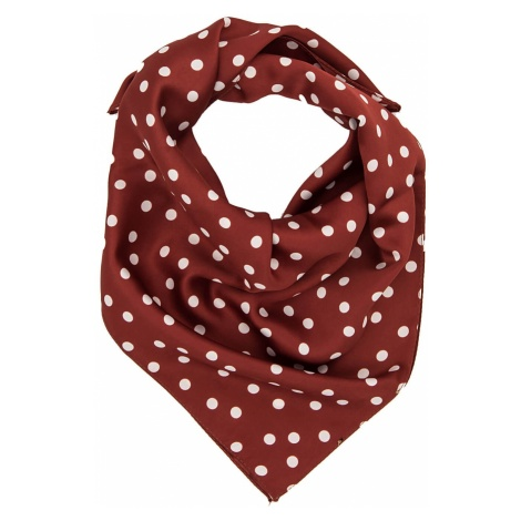 Trendyol Burgundy Polka-Dot Patterned Scarf