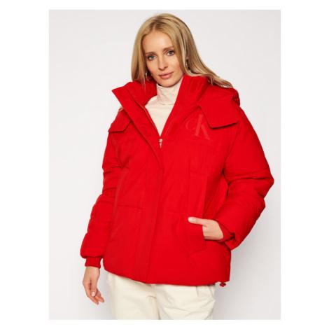 Calvin Klein Jeans Kurtka zimowa J20J214856 Czerwony Regular Fit