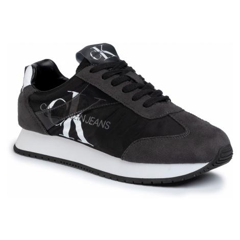 Sneakersy CALVIN KLEIN JEANS - Jester B4S0655 Black/Gray Pinstripe