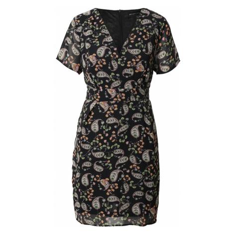 Mela London Sukienka czarny / biały / zielony / pomarańczowy
