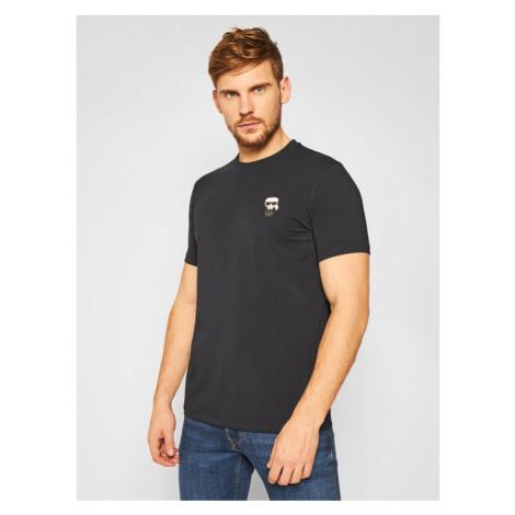 KARL LAGERFELD T-Shirt Crewneck 755027 502221 Granatowy Regular Fit