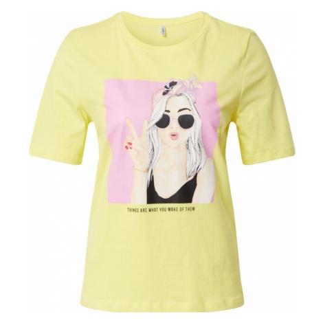 ONLY Koszulka 'SUI BOXY' różowy / żółty