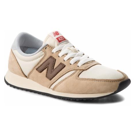 Sneakersy NEW BALANCE - U420BBG Beżowy Brązowy