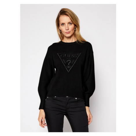 Guess Sweter Lily Rn Swtr W1RR0H Z26I0 Czarny Comfort Fit
