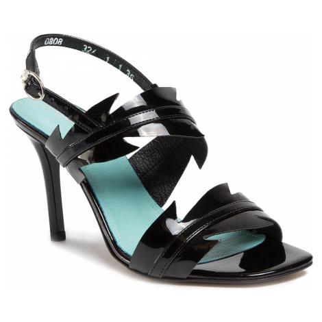 Sandały ANN MEX - 0808 01L+01W Czarny