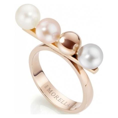 Morellato pierścień ze stali nierdzewnej z perłami Lunae Rose SADX05 (obwód 54 mm)