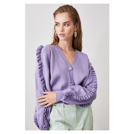 Women's cardigan Trendyol Frill detailed