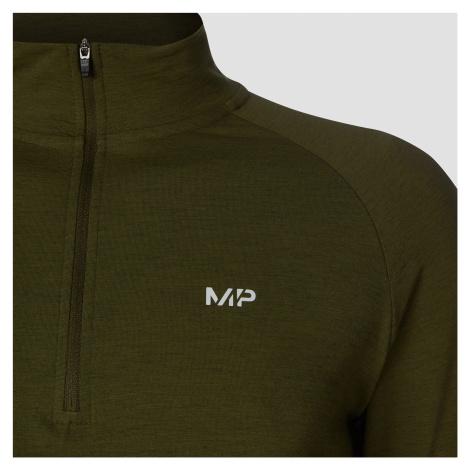 MP Men's Performance 1/4 Zip Top - Army Green Marl