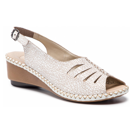 Sandały RIEKER - 66174-80 Weiss