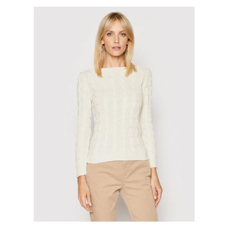 Lauren Ralph Lauren Sweter 200831469001 Biały Regular Fit