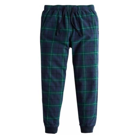 HOLLISTER Spodnie od piżamy niebieska noc / zielony