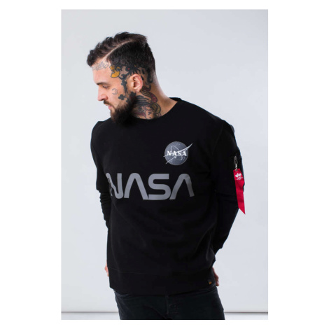 Bluza Alpha Industries Nasa Reflective Sweater 03 Black