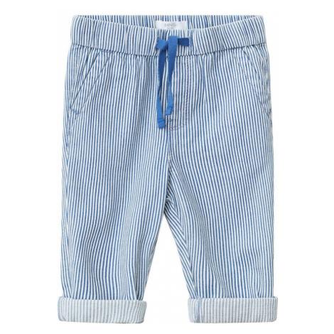MANGO KIDS Spodnie 'Leo' kobalt niebieski / biały