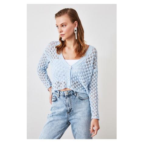 Trendyol Blue BlindkEd Knit Cardigan