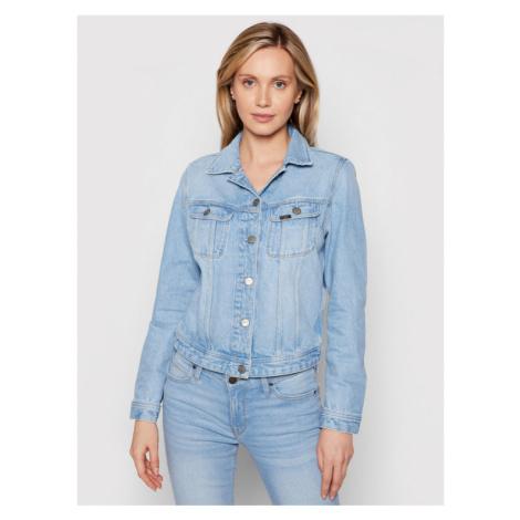 Lee Kurtka jeansowa Rider L54MGABV Niebieski Regular Fit