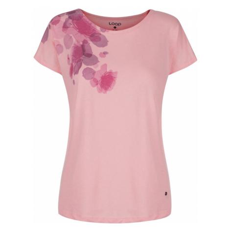 T-shirt damski ALFIE różowy LOAP