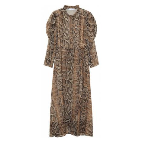 MANGO Letnia sukienka 'boa' brązowy
