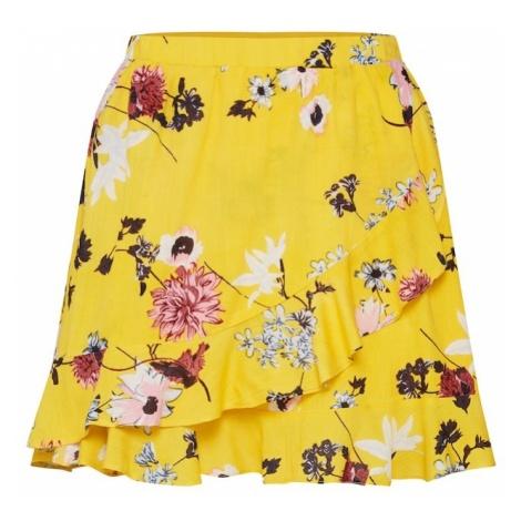 Desires Spódnica 'Addi 4' żółty / mieszane kolory