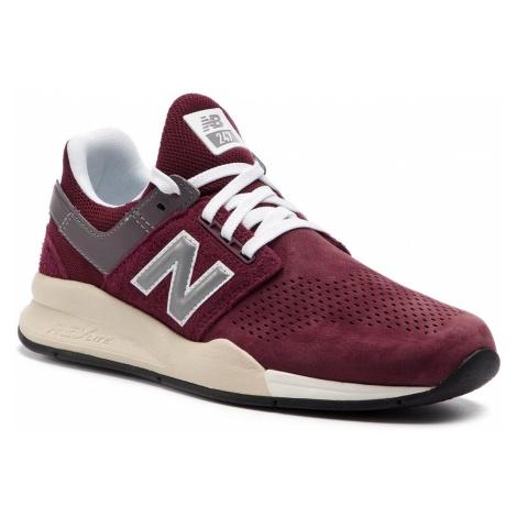 Sneakersy NEW BALANCE - MS247JY Bordowy
