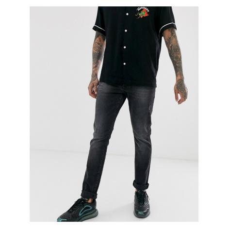 Armani Exchange J14 stretch skinny fit jeans in dark grey