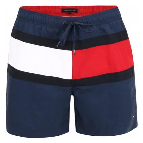 Tommy Hilfiger Underwear Szorty kąpielowe czarny / atramentowy / biały / czerwony