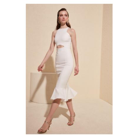 Trendyol Ecru Lace Dresses Waist Dress
