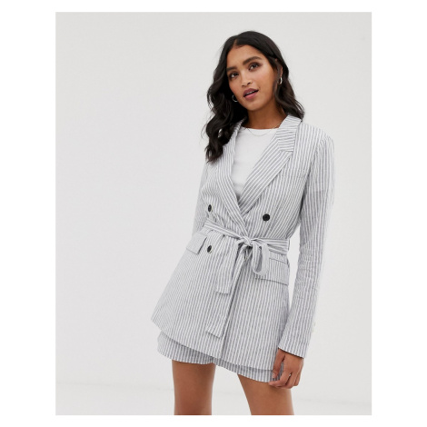 Y.A.S stripe soft tailored blazer