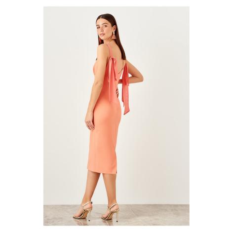 Trendyol Peach double bream dress