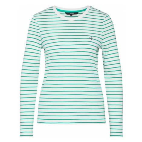 VERO MODA Koszulka 'VMALLY LS TOP' zielony / biały
