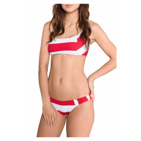Tommy Hilfiger Dolna część stroju kąpielowego Czerwony Biały