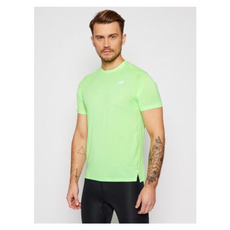 New Balance Koszulka techniczna Impact Run Ss NBMT01234 Zielony Regular Fit