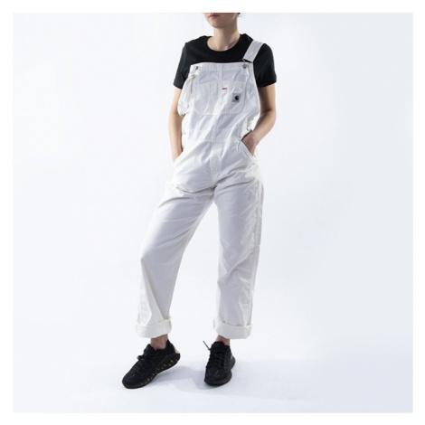Spodnie damskie Carhartt WIP Bib Overall Straight I027998 OFF WHITE