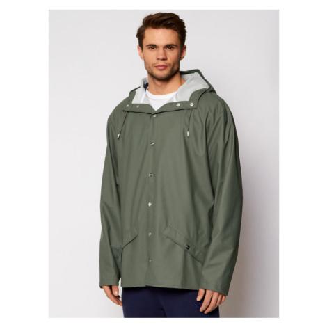 Rains Kurtka przeciwdeszczowa Unisex Essential 1201 Zielony Casual Fit